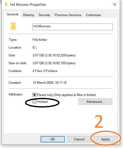 How to hidden files