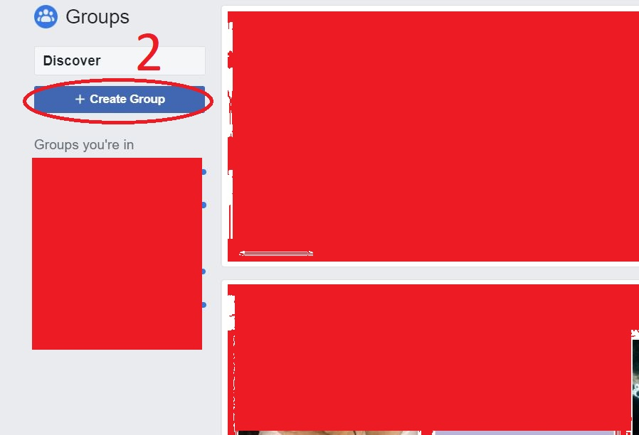 Create Group Faccebook