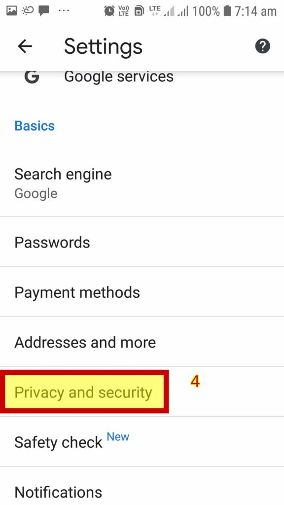 click Privacy and security: Delete search history Google chrome